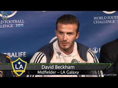 Players and coaches from the Galaxy and Real Madrid address the media ahead of their World Football Challenge match on Saturday, July 16 at the L.A. Coliseum.