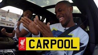 Hilarious LFC CARPOOL with Sturridge, Ox, Clyne and Gomez | KARAOKE and REAL TALK