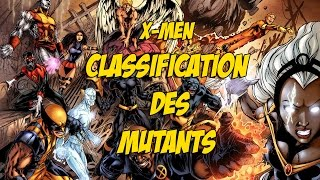 X-Men | Classification des mutants