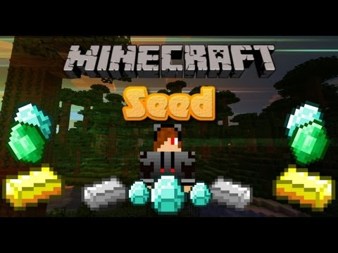 Minecraft 1.6.2 Mega Seed! Diamonds! Lots of Gold!!! Iron everywhere! emeralds!!