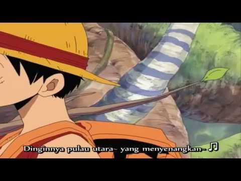 Luffy sing Baka song Indonesian Subtitle (Funny One Piece)