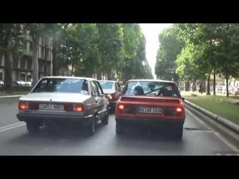 Gita in Fiat 131 con gli amici del Nord Europa