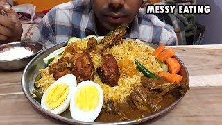 CHICKEN DUM BIRYANI- Indian Food Eating-Messy Mukbang Eating Show ( Social Eating)