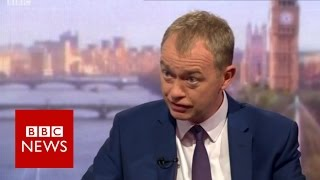 Tim Farron (FULL) interview with Andrew Marr - BBC News