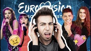 REACCIONANDO A LAS CANCIONES DE EUROVISION 2018 | MALBERT