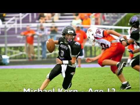 2012 Michael Kern - QB - Age 12 - Passing Highlights -Avalon Pop Warner - Pee Wee