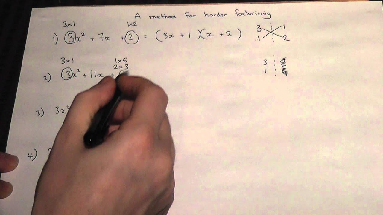 Factorising expressions worksheet gcse