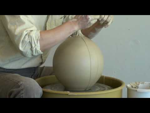 1. Throwing a Clay Pumpkin on the pottery wheel with Hsin-Chuen Lin