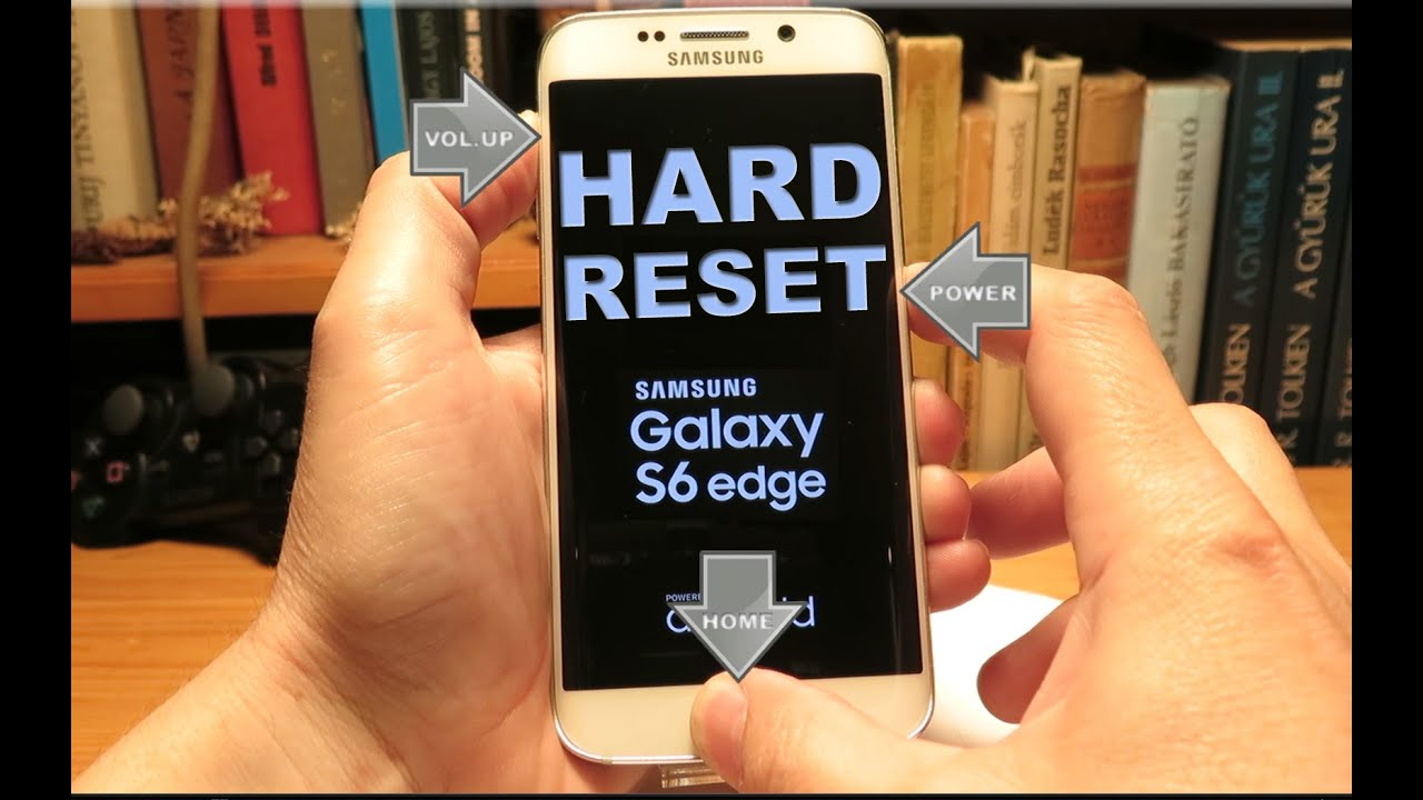 Samsung, g925F Galaxy, s6, edge - How to, hard Reset my phone
