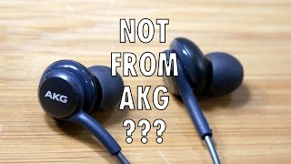 Are the Galaxy S8 premium earbuds NOT from AKG?