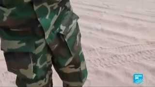 دورية لحرس الحدود في عمق الصحراء الليبية على الحدود مع مصر