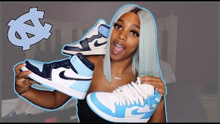Female Jordan 1 UNC Sneaker Collection