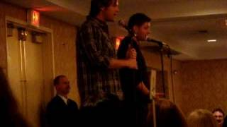 #3 of 7 Jensen & Jared Breakfast @ ChicagoCon 2009 - Supernatural