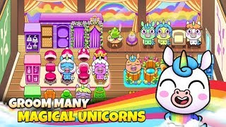 #LearnColors  My Unicorn Virtual Pet - Cute Animal Care Game #h #w #q Android Gameplay FHD