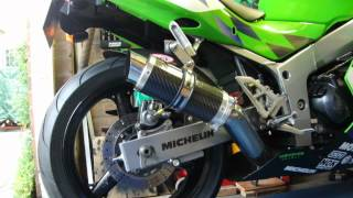 Kawasaki ZX6R F3 With Moto GP Stubby Carbon Exhaust Can