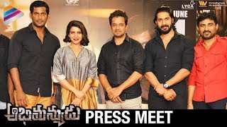 Abhimanyudu Movie Press Meet | Samantha | Vishal | Arjun | 2018 Telugu Movies | Telugu FilmNagar
