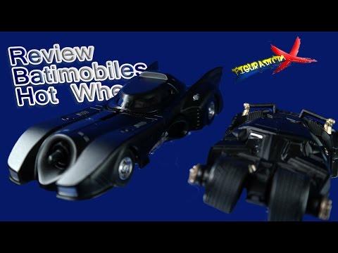 Review Batmobile 1989 Tumbler 1:50 Hot Wheels Collector Edition 2016 Revision Español