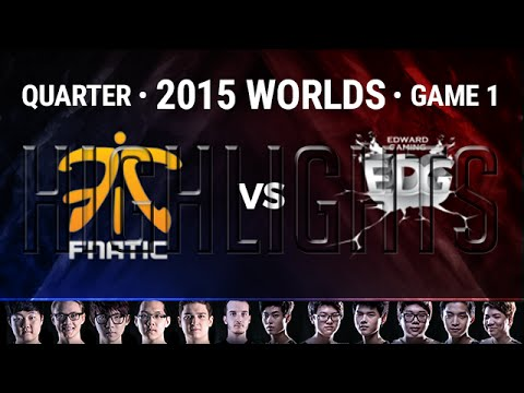 FNATIC vs EDG Highlights | Quarter-Final Game 1 S5 2015 LoL World Championship | FNC vs EDG