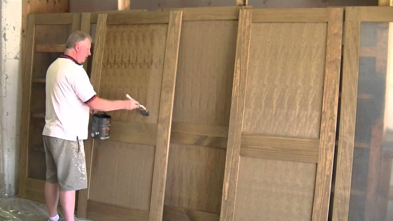 How To Clear Coat Wood Doors Youtube