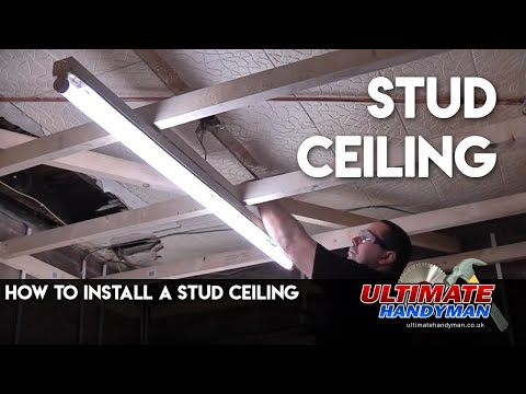 stud ceiling installation