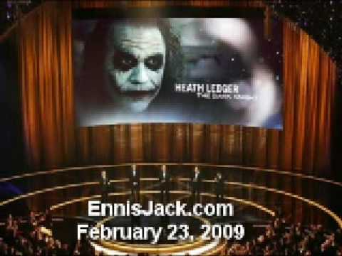 Heath Ledger Post-Award Best Supporting Actor Joker Tribute - Oscar SAG BAFTA Golden Globe 2009