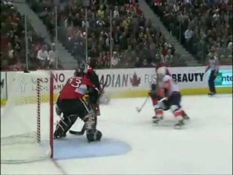 Anton Volchenkov Blasts Tavares 10/8/2009