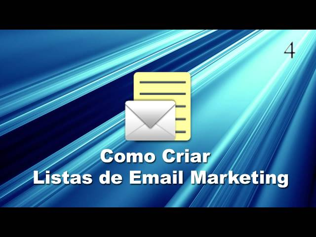 Como criar listas de email marketing