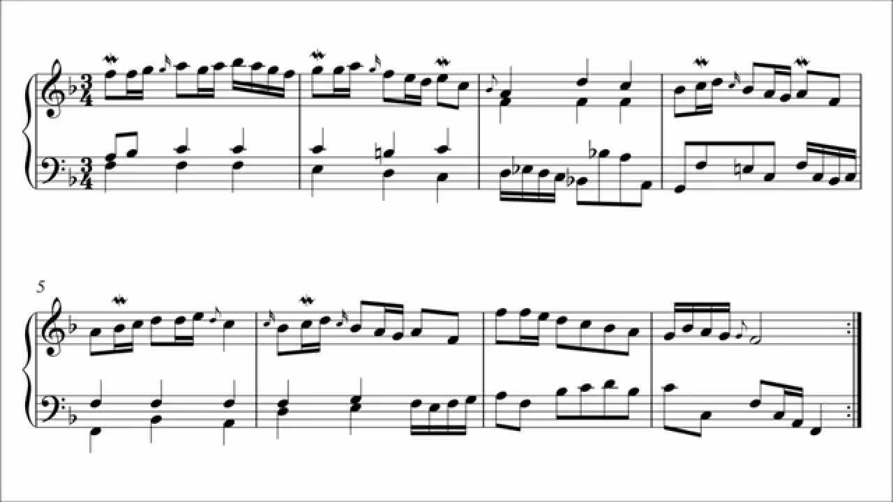Polonaise f Major Bach Bach Polonaise in f Major