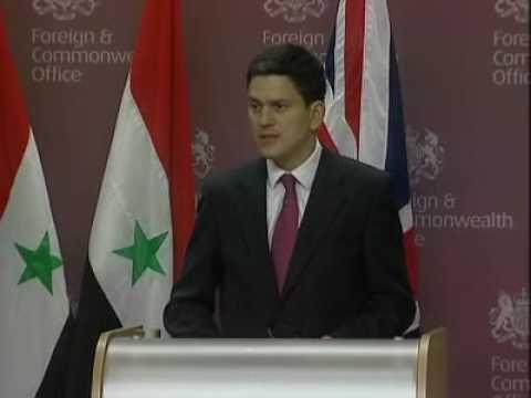 FOREIGN SECRETARY ON UK-SYRIA TIES
