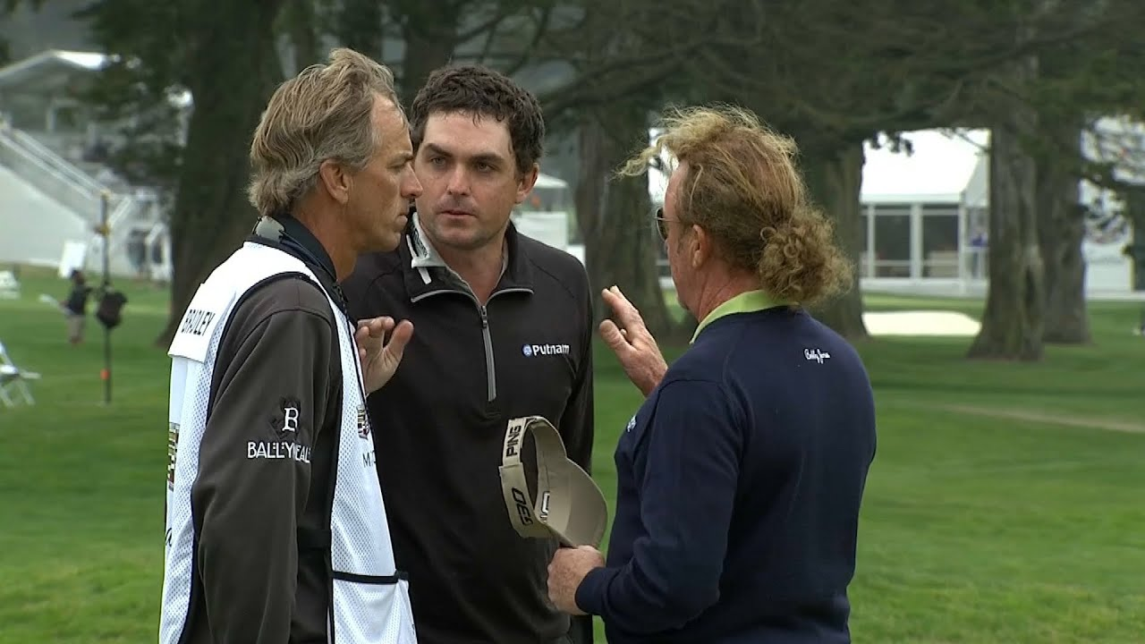 Keegan Bradley and Miguel Angel Jimenez nose-to-nose at Cadillac Match Play