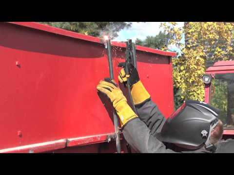 Stick Welding a Ladder to a Gravity Box with the Bobcat™ 250 EFI Welder/Generator