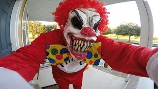 Scary Clown Giving out Candy | Halloween