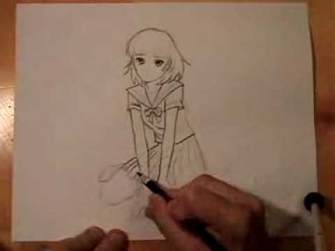 Girl Falling Drawing How to Draw a Manga/anime Girl