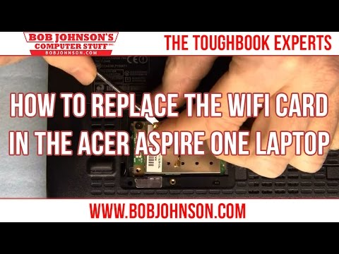 How to replace the WIFI card in the Acer Aspire One Laptop