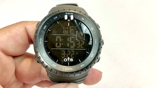 OTS 50M Waterproof Black Military LED Sports Digital Watch Wristwatch review and giveaway