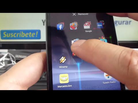 Como crear carpetas en android Motorola Moto G XT1032 En Español YouTube Full HD