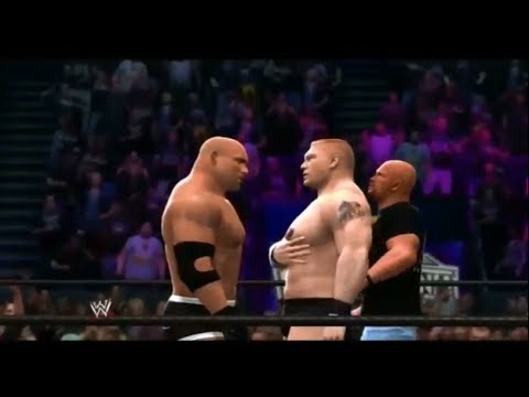 Wwe 2k14 - Goldberg Vs. Brock Lesnar Scenes + Gameplay ! video