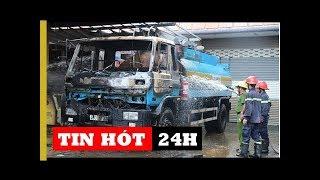 Cháy cây xăng, người dân hoảng loạn tháo chạy | Tin Nóng 24h