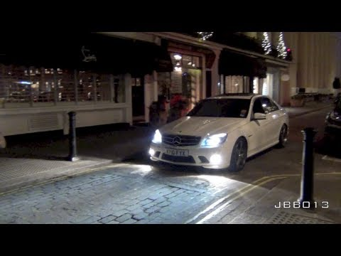 DECATTED Mercedes C63 Insane Acceleration Sounds!!