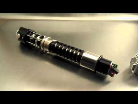 Sapphire lightsaber with led string blade tube of music for Hampton s hand crafted led sabers