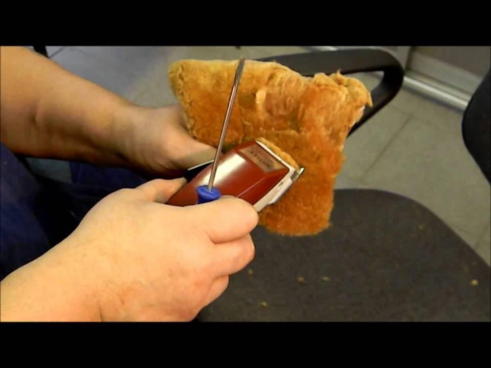 Как заточить нож машинки для стрижки в  829