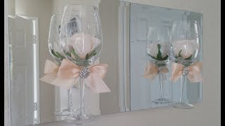 ELEGANT WINE GLASS WALL DECOR   INEXPENSIVE DIY   EASY PROJECT 2018