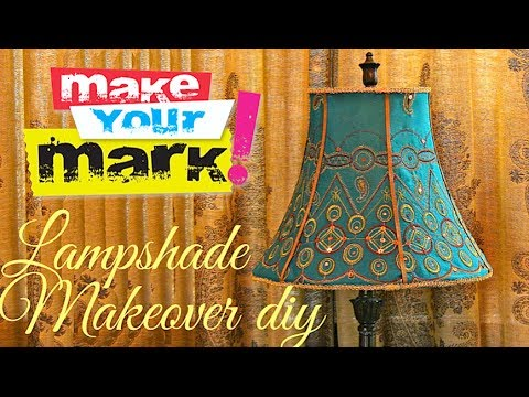 How To Fancy Lampshade Makeover Diy Youtube