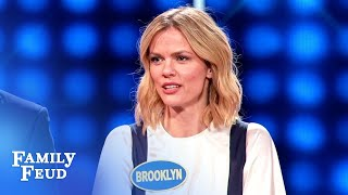 Brooklyn Decker throws her MOM under the bus! | Celebrity Family Feud
