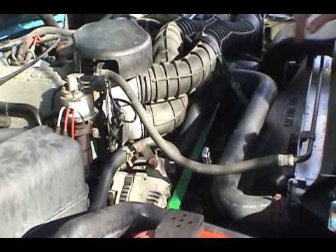 1995 Ford F 250 4x4 Serpentine Belt Replacement Youtube