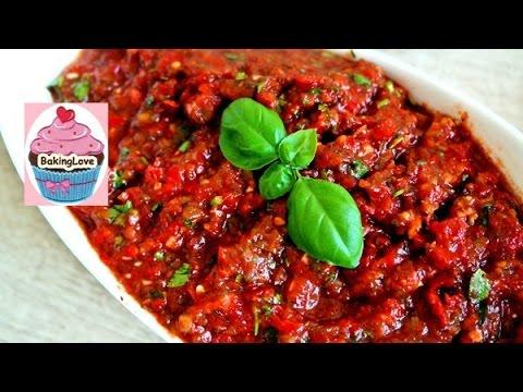 Acili ezme I scharfer Tomaten-Paprika Dip I Chili-Dip I mezze I türkische Vorspeise