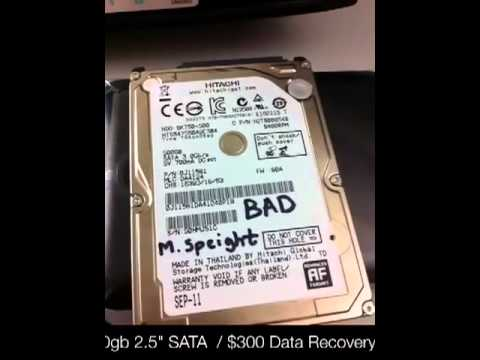 "100% recovered Hitachi 500gb 2.5"" SATA 300 dollar data recovery"
