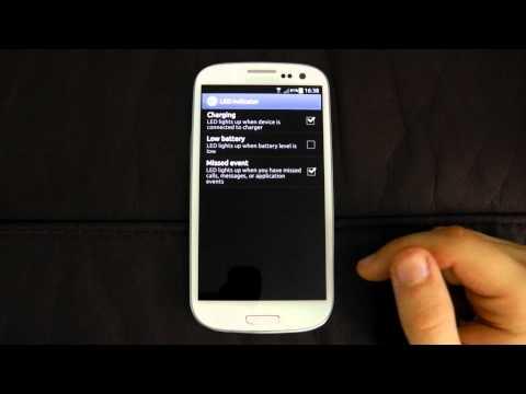Samsung Galaxy S3 settings