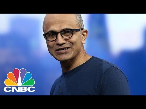 Satya Nadella: First Year As Microsoft CEO | Tech Bet | CNBC