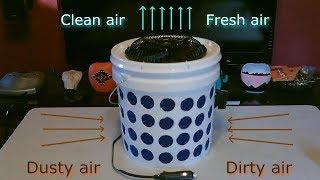 "DIY Air Purifier! - The ""2 Gallon Bucket"" Air Filter! - ez DIY (100% solar powered!)"